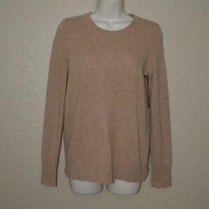 NWT $245 S White + Warren Camel Crewneck Sweater